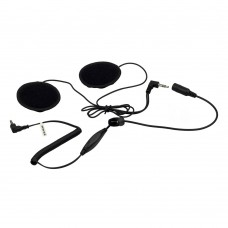Listen-only Stereo Motorcycle Headset Kit with Volume Control